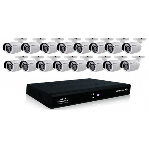 16 Channel Hikvision With 16 Units Security Camera