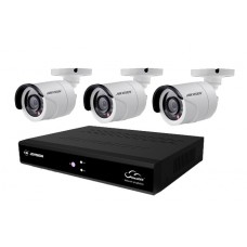 4Channel DVR With 03 Units CCTV Camera
