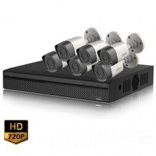 HD-CVI 08 Channel DVR With 06 Units HD-CVI 720p Camera