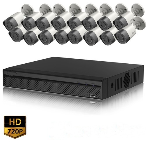 Full HD 720p 16 Channel DVR With 16 Units Full HD Hikvision Camera
