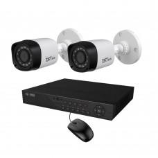 Full HD 720p 04 Channel Jovision DVR with 02 Units Full HD 720p ZKTeco Camera