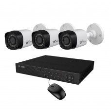 Full HD 720p 04 Channel Jovision DVR With 03 Units Full HD 720p ZKTeco Camera