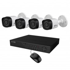Full HD 720p 04 Channel Jovision DVR With 04 Units Full HD 720p ZKTeco Camera