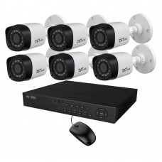 Full HD 720p 08 Channel Jovision DVR With 06 Units Full HD 720p ZKTeco Camera
