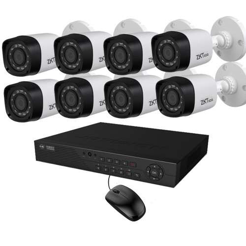 Full HD 720p 08 Channel Jovision DVR With 08 Units Full HD 720p ZKTeco Camera