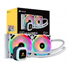 Corsair Hydro H100i RGB PLATINUM SE 240mm Liquid CPU Cooler White
