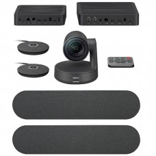 Logitech Rally Plus Video Conferencing Set (8 Pcs Set/Audio Coverage 24 Feet)
