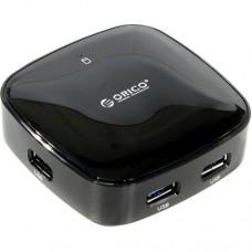 Orico H4818-U3 4 Port USB 3.0 Mini Hub Black