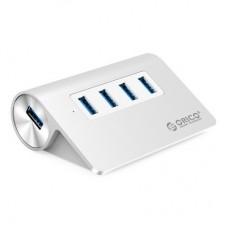 Orico M3H4-V1-SV-BP Aluminium Silver 4 Port USB 3.0 HUB