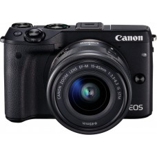 Canon EOS M3 with 15-45mm IS STM Mirrorless DSLR Camera