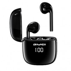 Awei T28 True TWS Bluetooth Smart Touch Sports Dual Earbuds with Charging Case