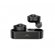 Remax TWS-21 True Bluetooth Dual Earbuds With Charging Dock Black