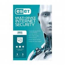 ESET Internet Security 3 User with 3 year License (2021 Edition)