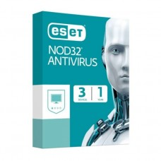 ESET NOD32 Antivirus 3 User for 1 Year (2021 Edition)