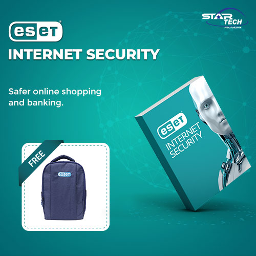 ESET Internet Security One User with Free Backpack