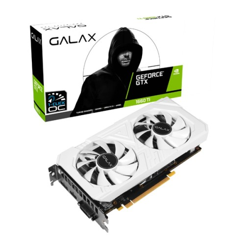 GALAX GeForce GTX 1660 Ti EX (1-Click OC) 6GB GDDR6 Graphics Card (White)