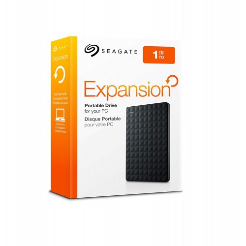 Seagate STEA1000400 Expansion Portable 1TB USB 3.0 Black External HDD