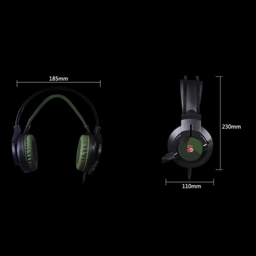 A4Tech J437 Bloody Gaming Headset Army Green