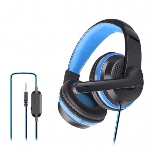 OVLENG OV-P6 3.5mm Stereo LED Light Gaming Headphone Black-Blue