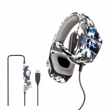 OVLENG Q9 E-sports Stereo Surrounded HiFi Gaming Headphone Army-Grey