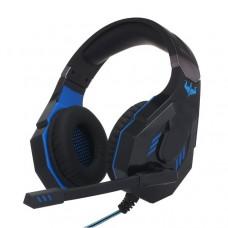 Ovleng Q10 USB Virtual 7.1 Wired LED Lighting Gaming Headphone Black-Blue