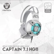 Fantech HG11 Captain 7.1 Surround Sound Space Edition RGB USB Gaming Headphone White