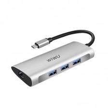 WiWU Alpha 631STR 6-in-1 Multi-function Type-C Hub Adapter