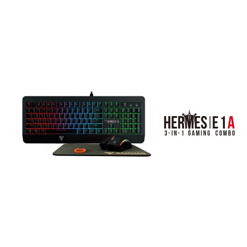 Gamdias HERMES E1A Combo Keyboard, Zeus E2 Optical Mouse and NYX E1 Mouse Mat