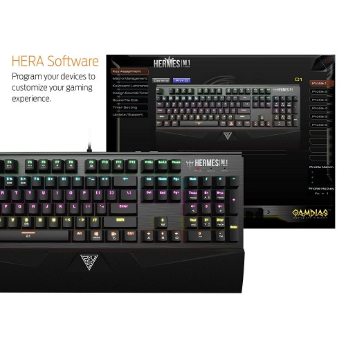 Gamdias HERMES M1 Mechanical Gaming Keyboard Price In