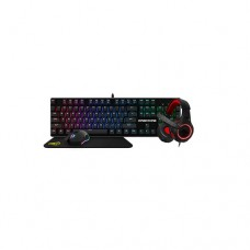KWG Draco E1a Multi Color Keyboard, Mouse, Headphone & Mouse Mat Gaming Combo