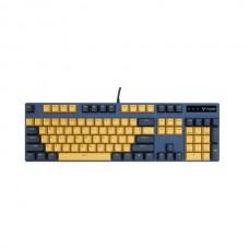 Rapoo V500 PRO Backlit USB Mechanical Gaming Keyboard Yellow and Blue