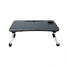 Alluminium Foldable Laptop Table with Cup Holder & IPad Slot