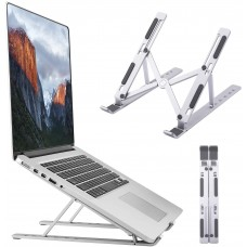 """Adjustable & Foldable 10"""" to 17.5"""" 6 Angles Travel Laptop Stand"""