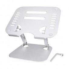 "Portable Ergonomic Aluminum Notebook Stand for 17"" Laptop"