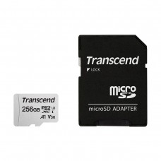 Transcend 256GB Micro SD UHS-I U3 Memory Card with TS256GUSD300S-A Adapter