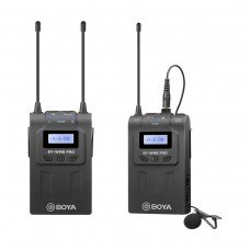 Boya BY-WM8 Pro-K1 UHF Dual Channel Wireless Microphone System (One Transmitter and One Receiver)