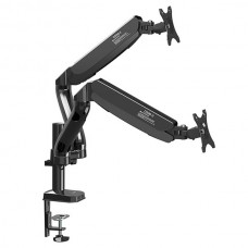 Kaloc KLC-DS90-2 Double Arm Full Motion Monitor Desktop Mount Stand