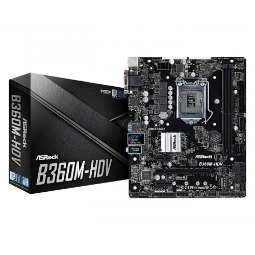 Asrock B360M-HDV 8th Gen DDR4 Motherboard