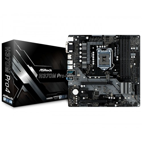 ASRock H370M Pro4 8th Gen DDR4 Motherboard(10,300)