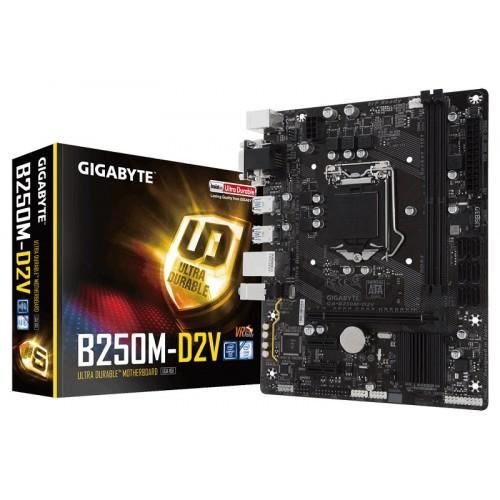 Gigabyte GA-B250M-D2V 7th/6th Gen Micro ATX Motherboard