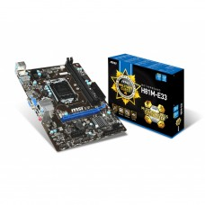MSI H81M-E33 Intel H81 Chipset Motherboard