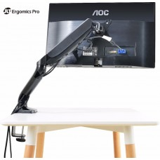 Ergonomic M1 Single Arm Monitor Desk Mount Stand With Cable Management