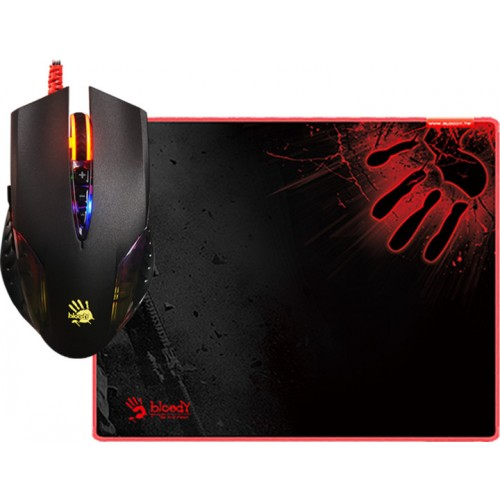 A4 Tech Q5081S Neon X'Glide Gaming Mouse & Mouse Pad