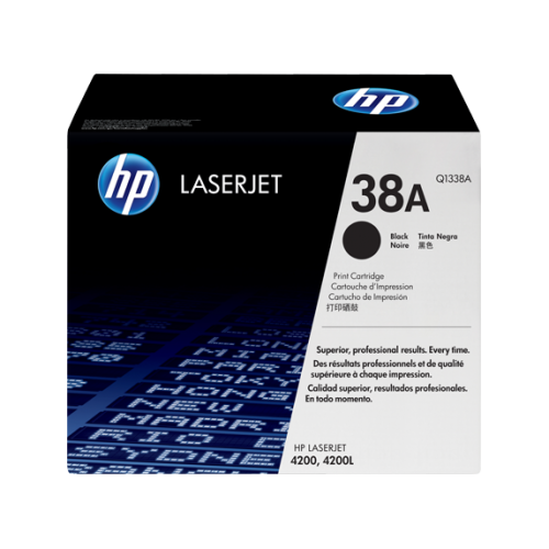 HP 38A Black Original LaserJet Toner