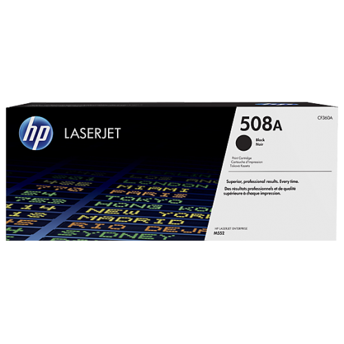 HP 508A Black Original LaserJet Toner (For CLJ M553N, DN)