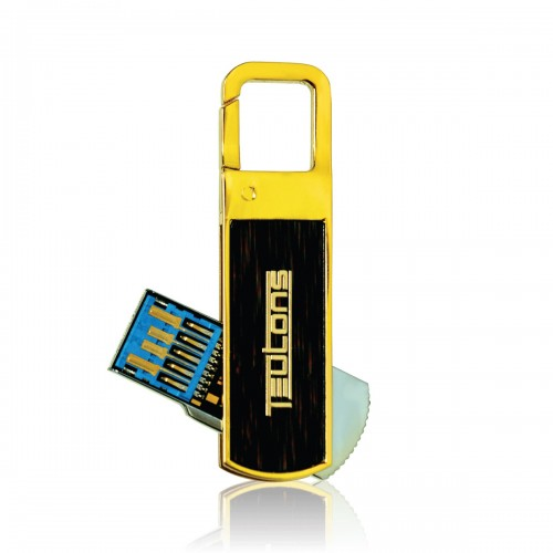 TEUTONS Solid Gold Plus 32 GB USB 3.1 Gen-1 Flash Drive