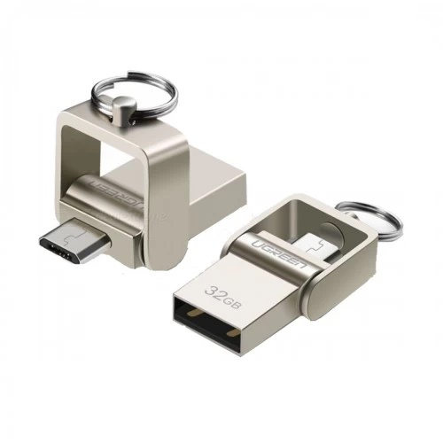 Ugreen 32GB USB 2.0 Dual Mode OTG Pen Drive Silver #30432