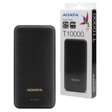 Adata T10000 Dual USB Ultra Slim 10000mah Power Bank (Black)