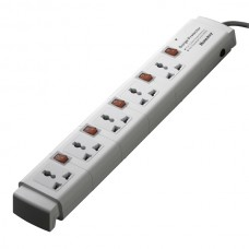 Huntkey PZC504 FivePorts 3 Line Surge Protection PowerStrip