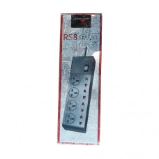 Power Pac RS8 PPH-803N3PN 8 Port Power Strip Black